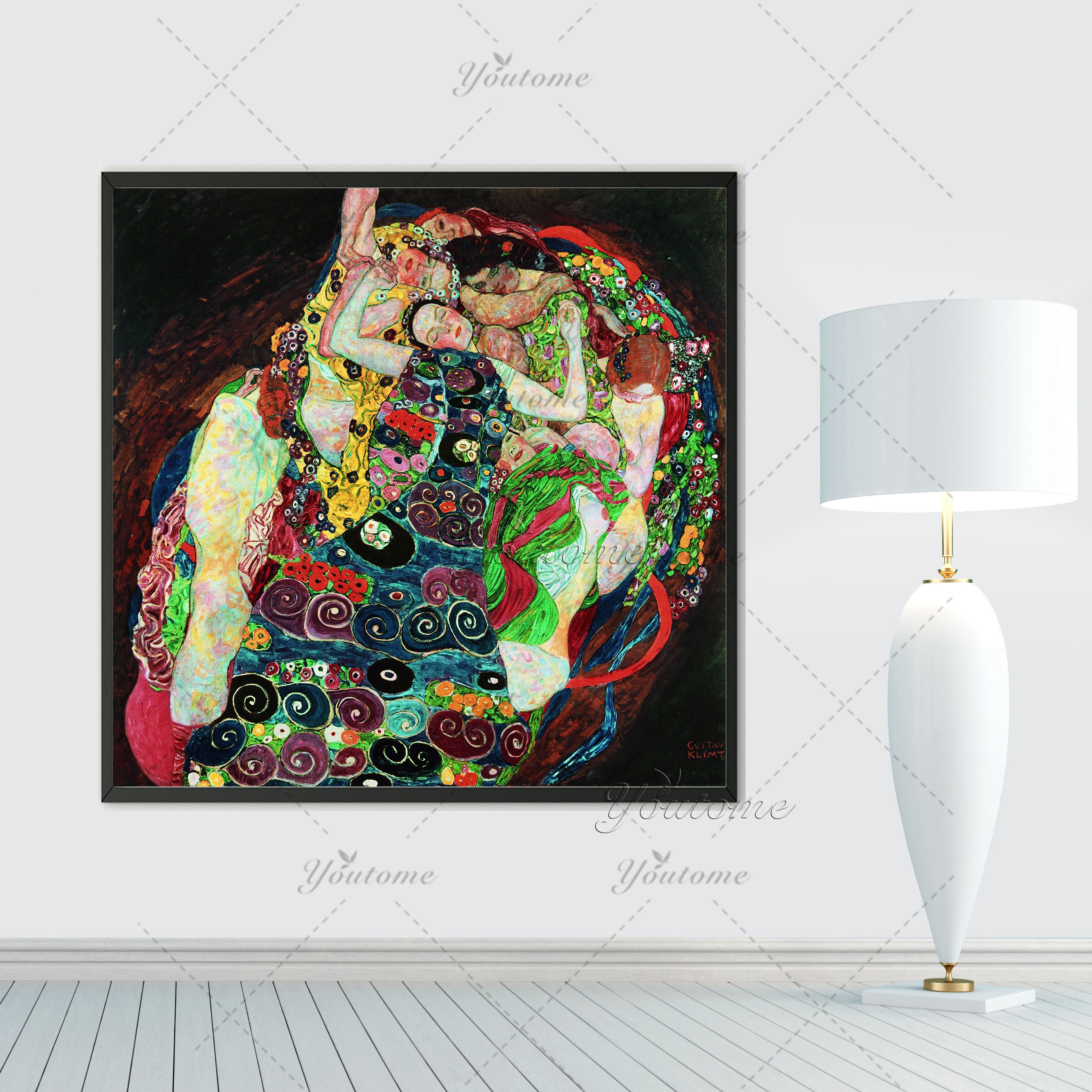 New special offer no fallout huge gustav klimt giclee for Fallout 4 canvas painting