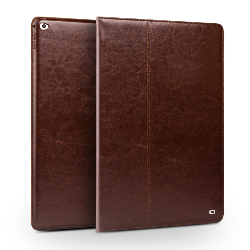 QIALINO Genuine Leather Tablet Case for iPad Pro 12 9 Fashion Pattern Stents Dormancy Stand Flip