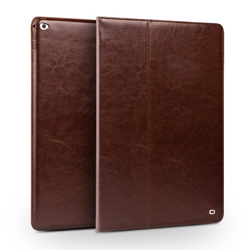 Naturalna skóra qialino Tablet etui do iPada Pro 12.9 mody wzór spoczynek stentów stań odwróć pokrywa dla iPad Pro 12.9 cal w Obudowy na tablety i czytniki od Komputer i biuro na AliExpress - 11.11_Double 11Singles' Day 1