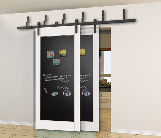 Diyhd 5ft 8ft r stico negro bypass bypass doble puerta - Puerta corredera doble ...