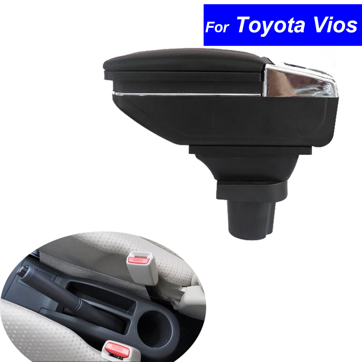 ФОТО Leather Car Center Console Armrest Box for Toyota Vios 2002 2003 2004 2005 2006 2007 2008 Armrests Free Shipping