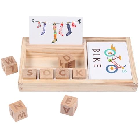 criancas montessori cartao cognitivo de madeira cartao