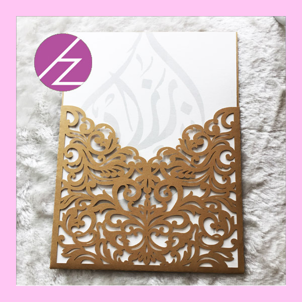 10pcs Lot Hot Laser Cut Paper Wedding Invitation Card Greeting Dinner Qj 54 15 20cm In Cake Decorating Supplies From Home Garden