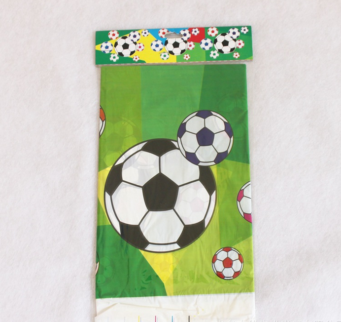 1Pcs/set Cute Disposable Plastic Table Cloth Football Sport Table Cover Tablecloth Waterproof For Kids Birthday Party Decoration