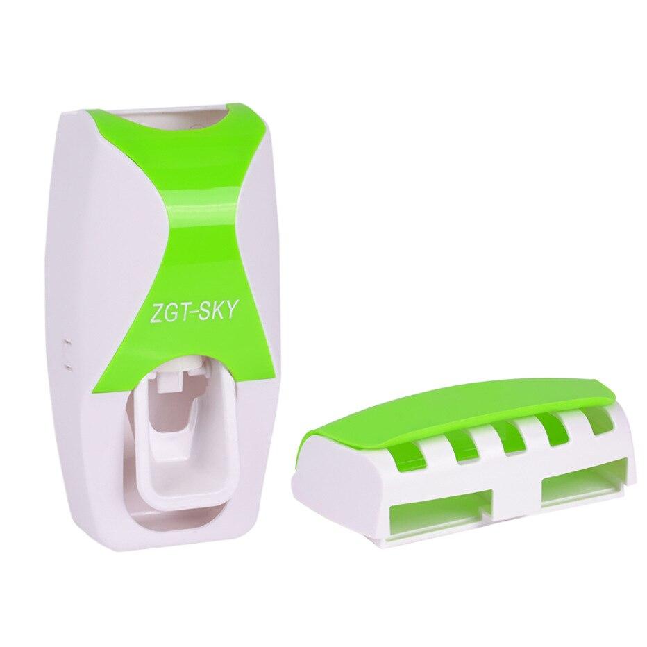 Otomatik Tembel Diş Macunu Dağıtıcı Duvara Monte Diş Fırçası Tutucu