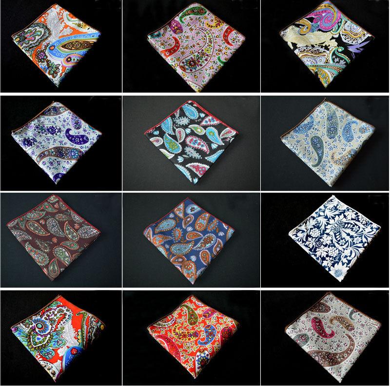 Men Floral Paisley Flower Cotton Hanky Prom Handkerchief Pocket Square Stylish YXTIE0109