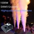 Высокое качество led 1500 Вт дымовая машина DMX512 эффект дистанционного управления дымовой машины устройство для дыма сценические световые эффе...