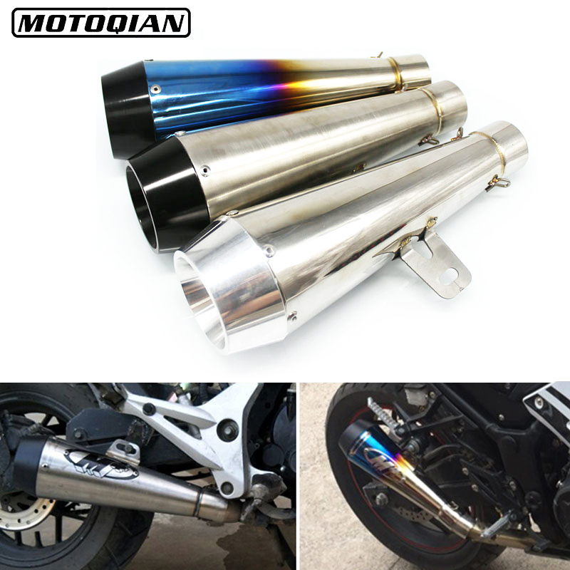 Universal Motorcycle M4 Modified 51mm Exhaust Muffler Escape Pipe For Kawasaki Z750 Z900 Z800 Z250 Z650 1000 Accessories r qiankong 36 51mm carbon fiber modified exhaust pipe muffler for kawasaki z250 z650 z750 z800 z900 z1000 sx ex250 300 zx 6r 10r