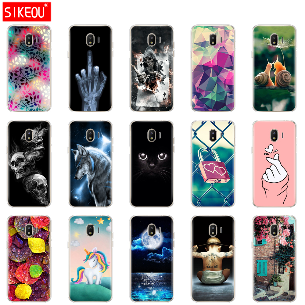 Soft-Case Back-Cover Flower J260F J2-Core Samsung Galaxy Silicone