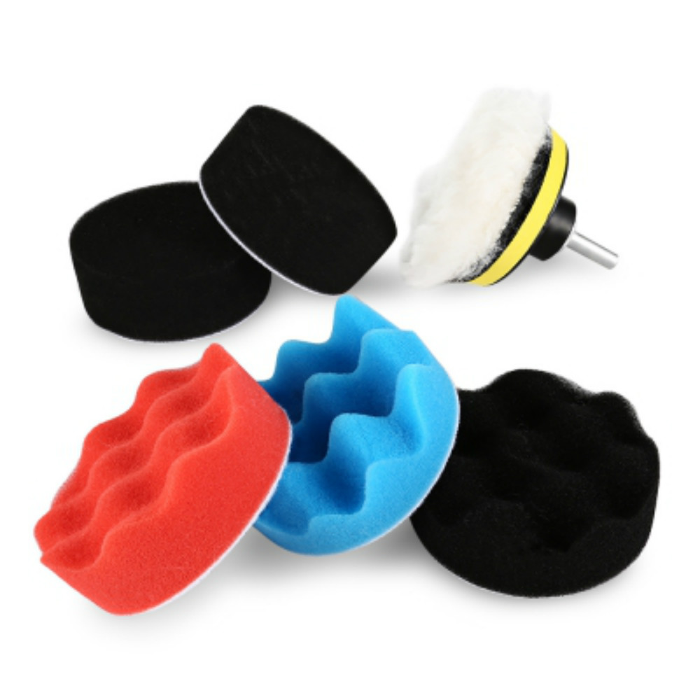 "7pcs 3"" Car Polishing Pad Set Polishing Buffer Waxing"