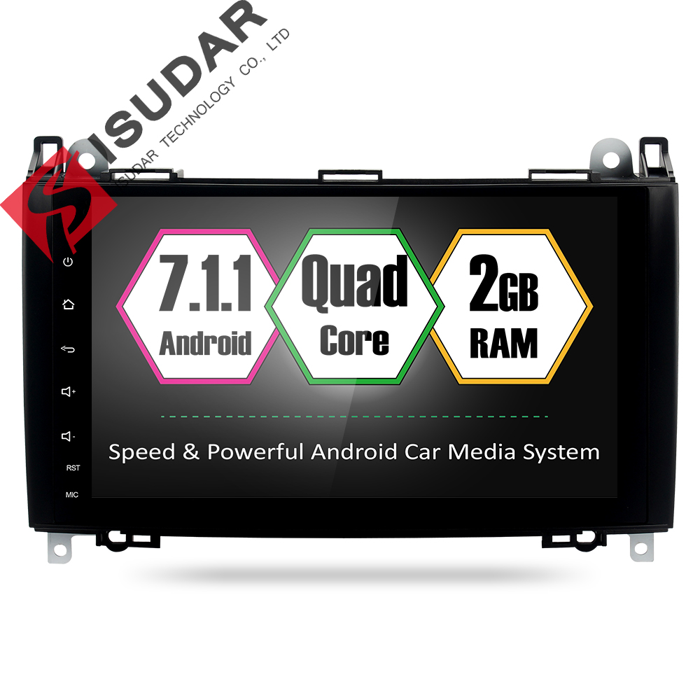 Isudar Car Multimedia Player GPS Android 7.1.1 2 Din For Mercedes/Benz/Sprinter/Viano/Vito/B-class/B200/B180 CANBUS Microphone