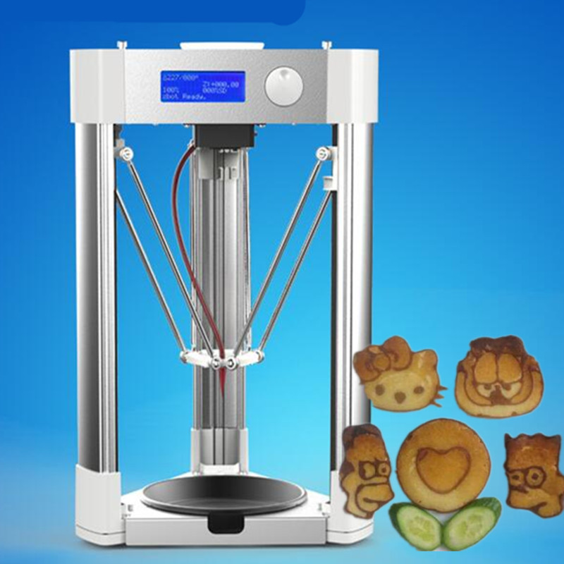 купить 2016 new 3d pancake printer,chocolate printer,food printer,cakes printer 100v-220v for cake shop недорого