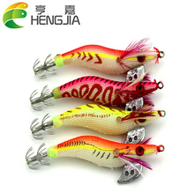 Hot Sale 1pc Plastic Box Package 8cm Luminous Shrimp Fishing Lures Artificial Bait Fake Lure Fishing Tackle HJ043 Free Shipping