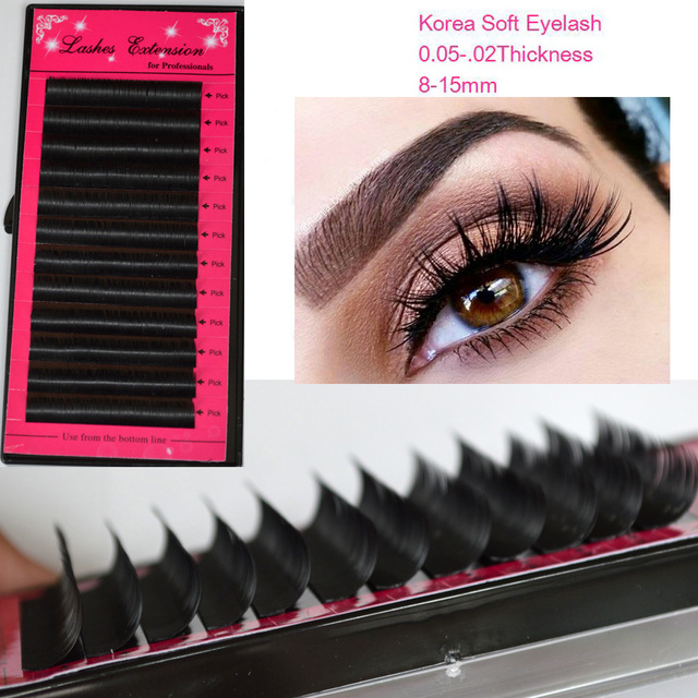 All Size 7-15mm Mix Individual Mink Eyelashes Extension,Russian Volume Eyelash Lash Extensions,3D Eyelash