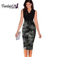 New 2016 Summer Women Celebrity Style V Neck Sleeveless Patchwork Colorblock Bow Elegant Party Tunic Bodycon