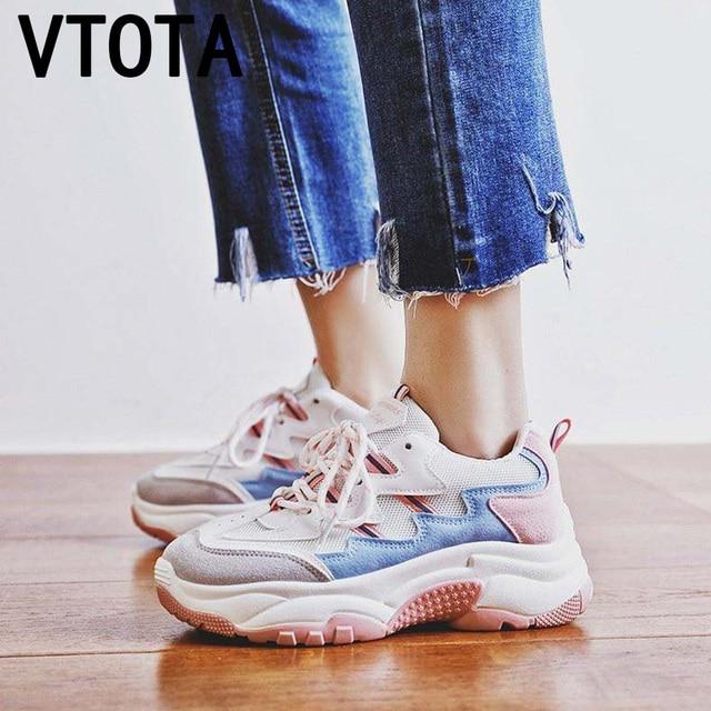 VTOTA 2018 Демисезонный модная женская повседневная обувь для женщин вулканизированной дышащая обувь; женская обувь на платформе кроссовки K3