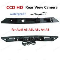 החדש CCD HD אחורית תצוגה עבור אאודי A3 A8L A6L A4 A8 רכב מצלמה גיבוי חניית המצלמה ידית תא