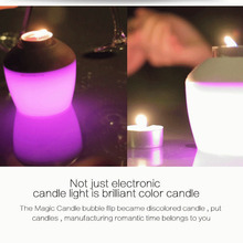 Electric Candle LED Flameless RGB scented Romantic Colored battery operated Candles