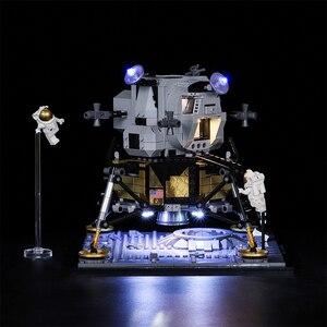 Image 3 - Светодиодный светильник Vonado серии «сделай сам», совместимый с Lego 10266 Apollo 11, лунное мусорное ведро, светодиодный светильник, рождественский подарок, игрушки для детей