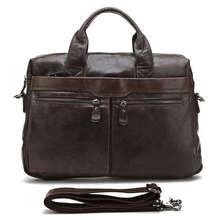 Most Popular Genuine Vintage Leather Dark Coffee Messenger Bag Laptop Bag Briefcase Men # 7122C