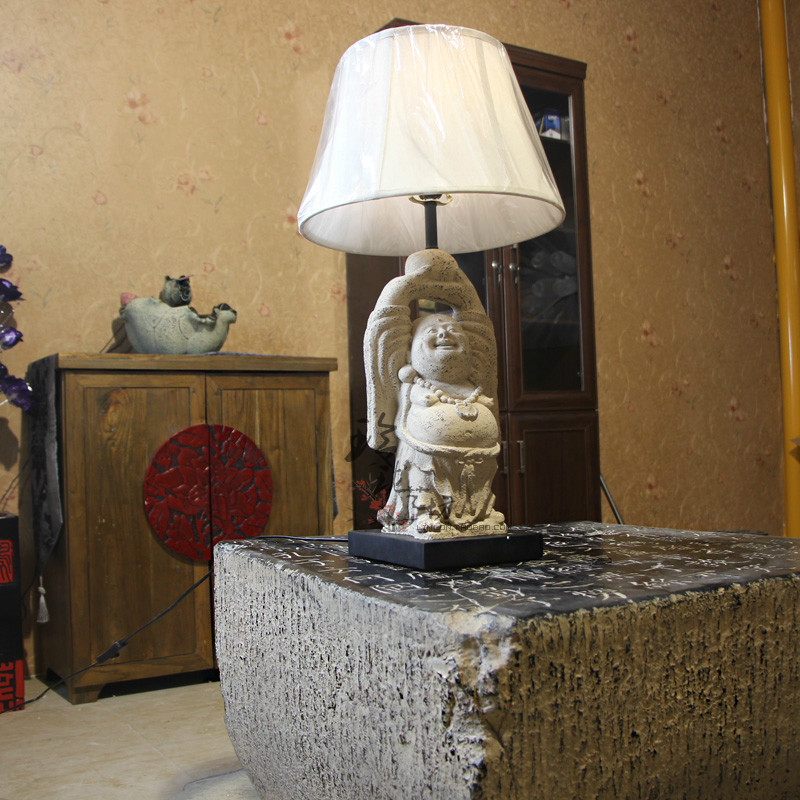 Chinese Classical Buddhist Culture And Creative Hands Buddha Lamp Bedside Living Room Town House Feng