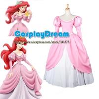 The Little Mermaid Ariel Costume Cosplay Princess Dress Custom Made Adult Halloween Ariel Party Cosplay Costume