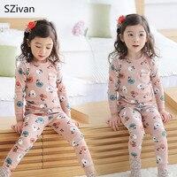 New Kids Girls Pajamas Cotton Children S Suts High Quality Girl Clothes Set 2pcs Long T