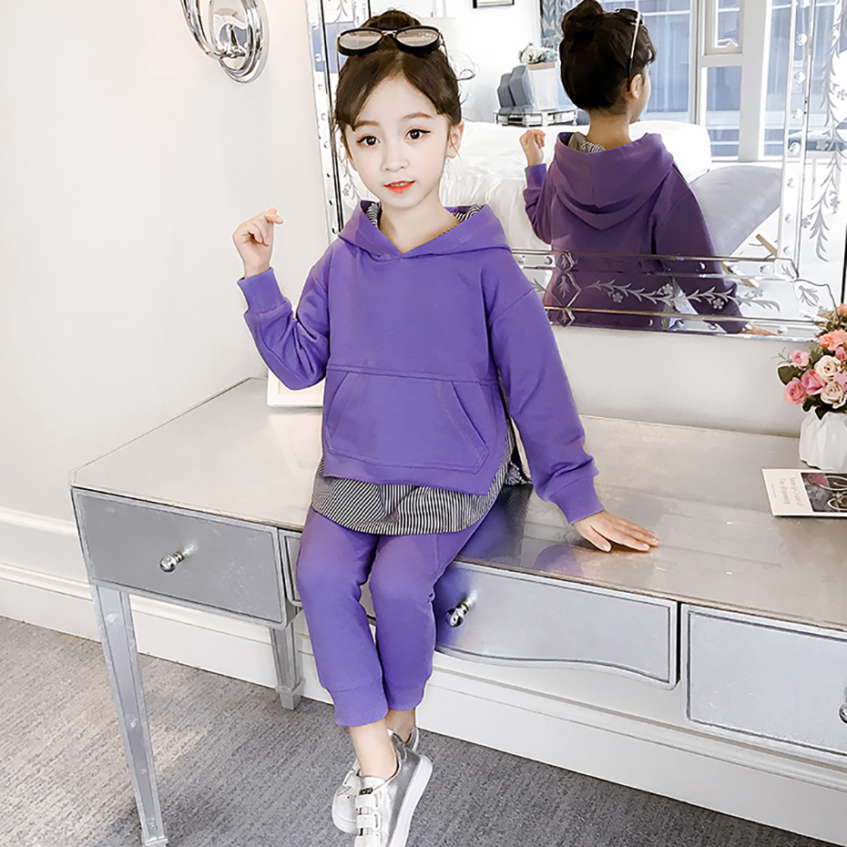 New Garments Set For Ladies Sports activities Children Garments Swimsuit Informal Kids's Costumes Spring Woman Clothes 6 8 12 12 months Child Hoodies+Pants Clothes Units, Low cost Clothes Units,...