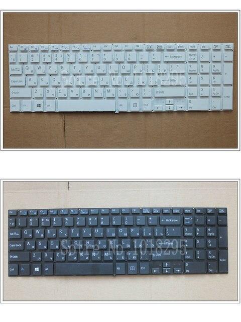 Nueva rusia ru teclado para sony vaio svf15ne2e svf152a29m svf15a1m2es 149239831 teclado blanco negro