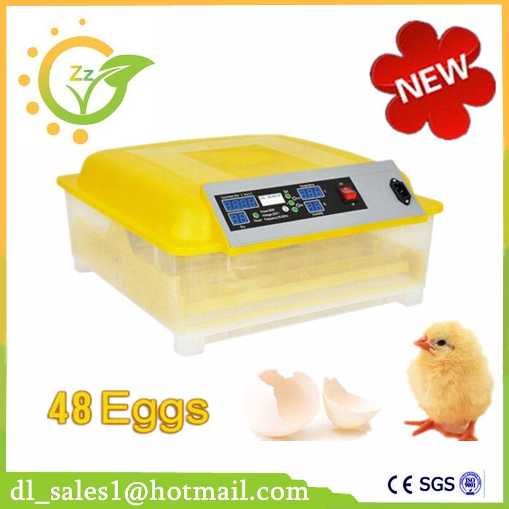 New Design 48 Eggs Incubator Fully Automatic Turner Poultry Chicken Duck Bird Egg Incubator 60 eggs incubator new design jn5 60 mini egg incubator poultry hatcher egg chicken quail duck incubator