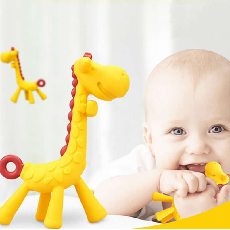 Baby Teether Cartoon Teething Nursing Silicone Baby Teeth That Fawn Molar Rod Giraffe To Bite The Teether Safty