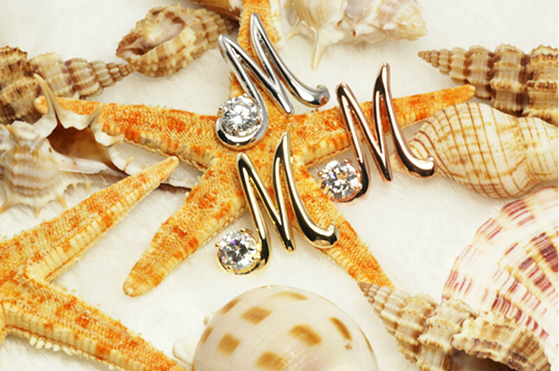The Letter M Set Zircon Color Plating Pendant Necklace Female Can Match With Different Styles In Pendants From Jewelry Accessories On
