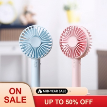 Battery Operated Cooling Fan Mini Personal 2000mAh Electric Fan Handheld Portable Rechargeable USB with Base for Travel Outdoors