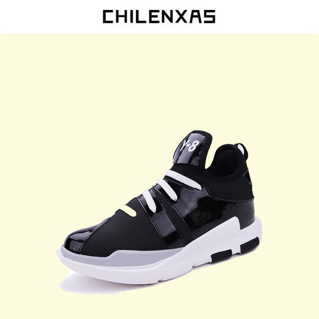 34ee6a384d1 CHILENXAS Winter Leather Shoes Men Casual Breathable Lace-up New Fashion  Ankle Boots Light Height Increasing Solid Waterproof