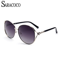 SARACOCO Luxury Women Brand Designer Polarized Sunglasses 2017 Big Frame Polarizing Driving Sun Glasses Female CO033