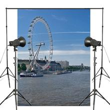 150x220cm Thames Panorama Photo Background London Eye Backdrop European Photography Studio Background thames