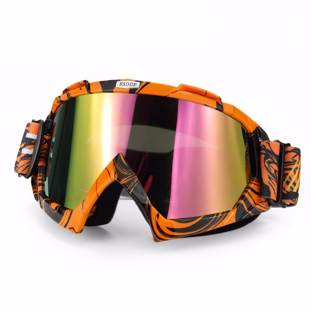 Men Women Cycling Glasses Ski Snowboard Goggles Skiing Snowmobile Motocycle Windproof Outdoor Riding Protective Eyewear
