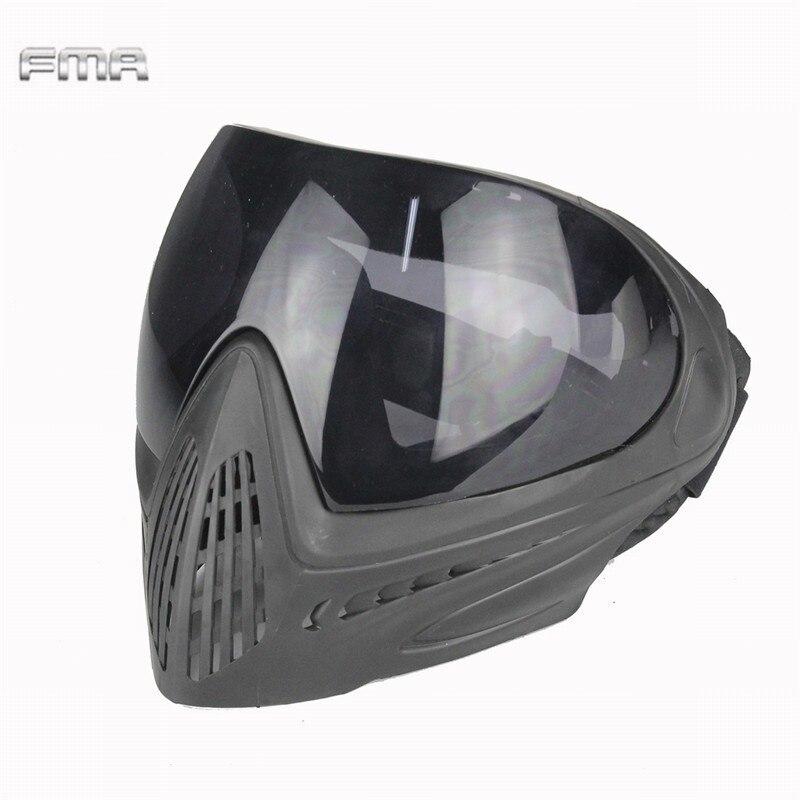 FMA F1 тактический Анти-туман Предметы безопасности, полный Уход за кожей лица маска airsoft Пейнтбол ударопрочности защитные очки маска аксессу...