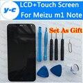 Для Meizu m1 Note Дисплей 100% Новый ЖК-Экран + Сенсорный Экран цифровая Панель Стекла Ремонт Для Meizu Mtk6752 1920X1080 FHD 5.5 дюймовый
