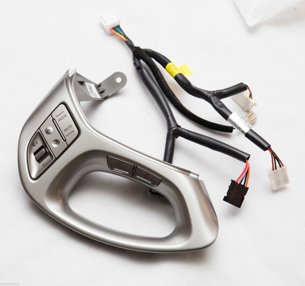 2Pcs LUE TOOTH  AUDIO VOICE Switch LH Cable (for Hyundai TUCSON IX35 2011-2013)Steering Wheel Button Phone Bluetooth Button