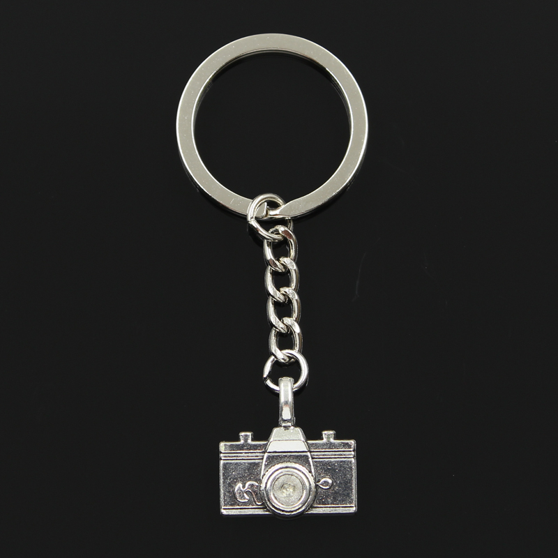 New Fashion Keychain 22x21mm Camera Pendants DIY Men Jewelry Car Key Chain Ring Holder Souvenir For Gift