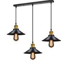 Современная светодиодный Люстра черный металлический потолочный