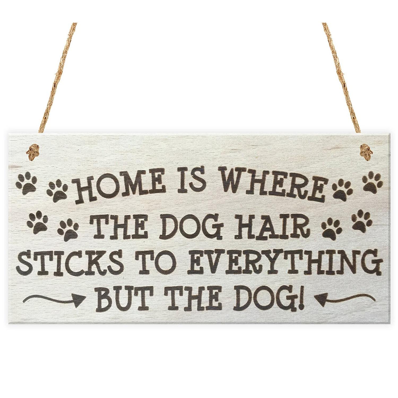 Лидер продаж-Дом там, где собака волос Щупы для мангала ко всему, но собака новинка деревянный висит доска Товары для собак владельца подаро...