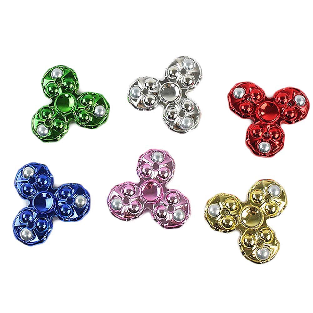 1pcs Three Leaves Fingertip Gyroscope Spinner Fidget Toy Plastic EDC Hand Spinner For Autism And ADHD Color Random