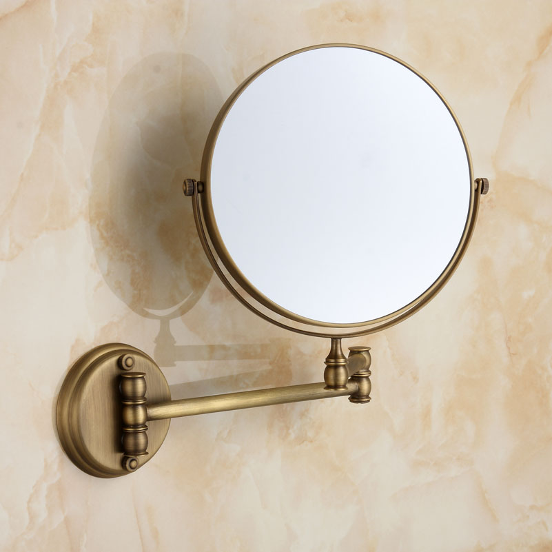 Bathroom Accessories Set Antique Foldaway Mirror Makeup Beauty Bathroom Mirror 3 Times The Magnifying Glass Curtains