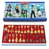 25 sztuk/zestaw 6 cm Fairy Tail Lucy Cosplay Brelok Skala & Free Różowy Tatuaż Heartfilia Znak Zodiaku Złota breloki do kluczy