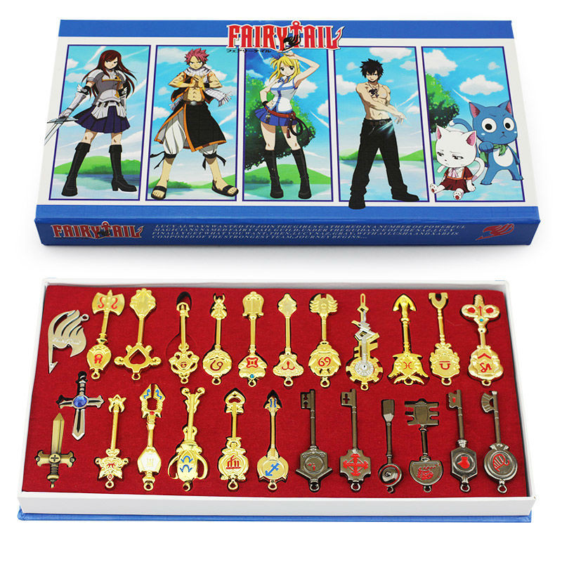 25pcs/set 6cm Fairy Tail Lucy Cosplay Keychain Scale & Free Pink Tattoo Heartfilia Sign of the Zodiac Gold Keyrings кукла defa lucy любимый малыш pink 5063pk