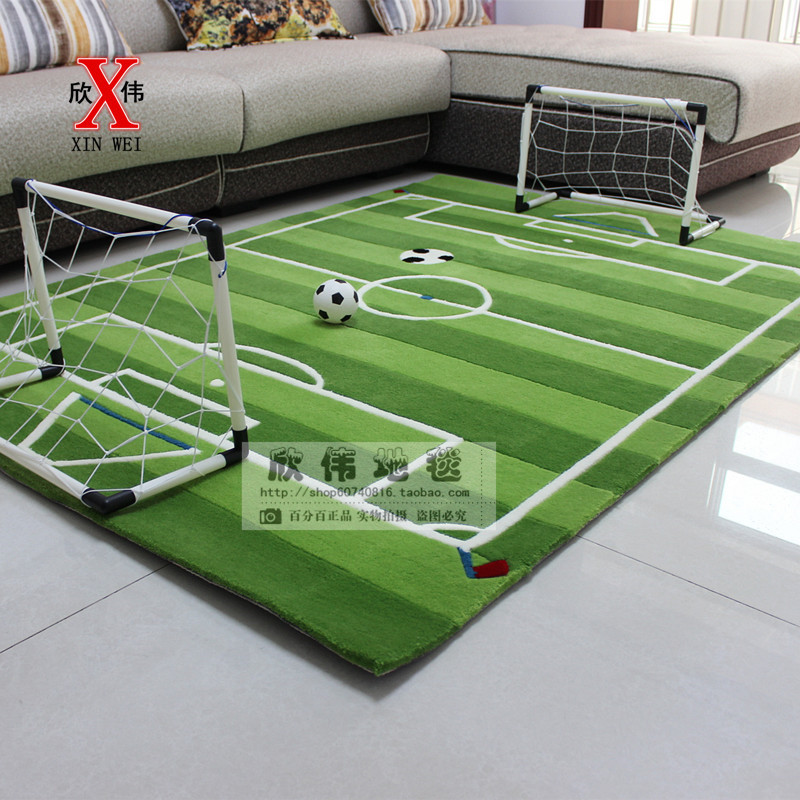 New Pattern Manual Acrylic Fibres The Football Field The Carpet For  Children Living Room, Bedroom Carpet, Tea Table Customizable In Carpet From  Home ...