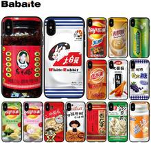 Babaite Cina Laoganma Kelinci Putih Toffee Hitam TPU Soft Phone Case untuk iPhone 8 7 6 6S PLUS 5 5S SE XR X XS Max Coque Shell(China)