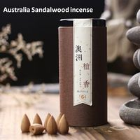 100pcs Natural Reflux Tower Incense Australia Sandalwood incense Smoke incense cones Backflow Incense Bullet free shipping